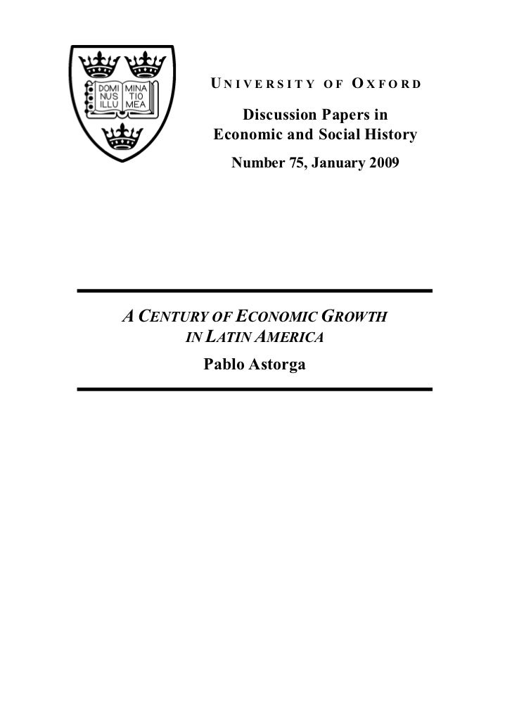 UNIVERSITY     OF   OXFORD            Discussion Papers in         Economic and Social History           Number 75, Januar...