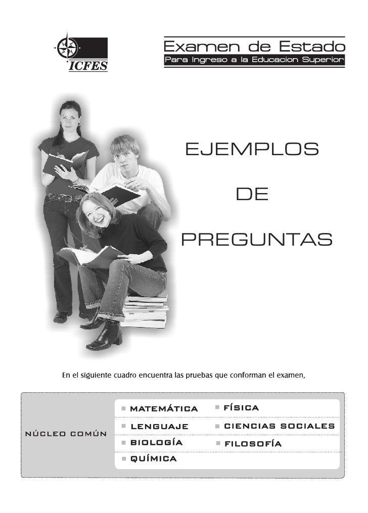 Ejemplos Web     EJEMPLOS      DE  PREGUNTAS