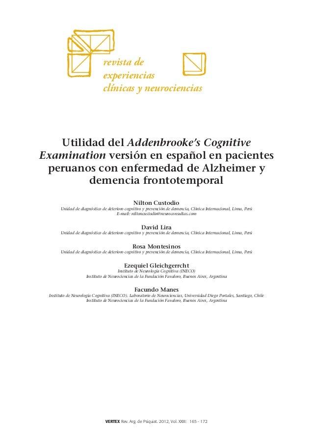 revista de                              experiencias                              clínicas y neurociencias   Utilidad del ...