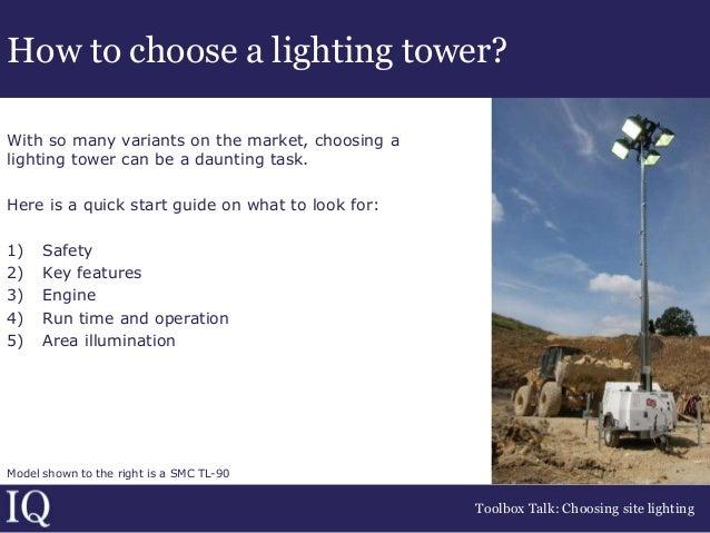Best practice guidance on choosing site lighting, supplied ...