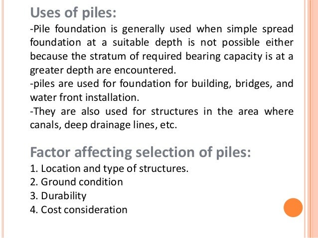 Pile foundation for advanced construction equipments for Cost of pilings for foundations