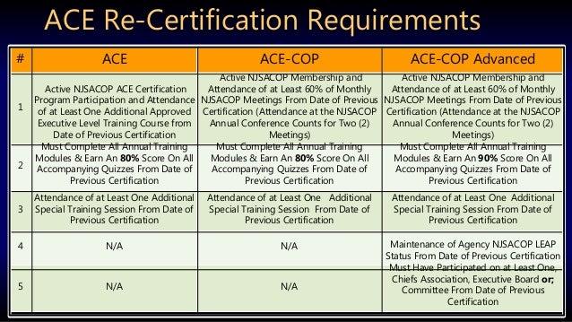 ace certification program overview linedin pp