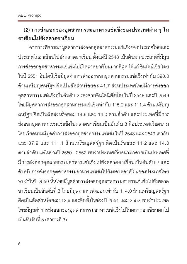 ตำแหน่งตลาดสินค้าอุตสาหกรรมไทยในตลาดอาเซียน Ace prompt2 บทที่2 Slide 3