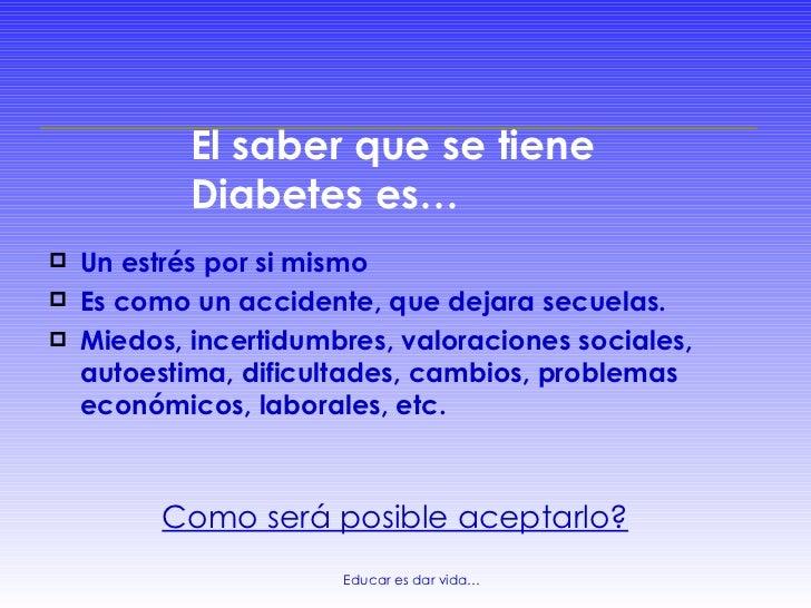 Aceptación de la diabetes, aspectos psicológicos que