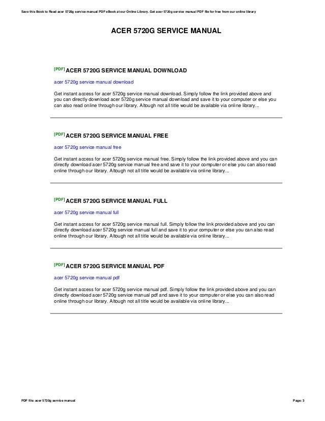 acer 5720g service manual rh slideshare net Acer User Guides and Manuals Acer User Guides and Manuals