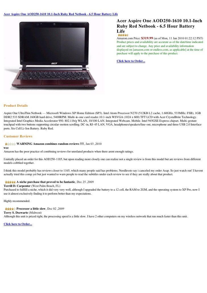 Acer Aspire 1610 Wireless LAN Driver Download