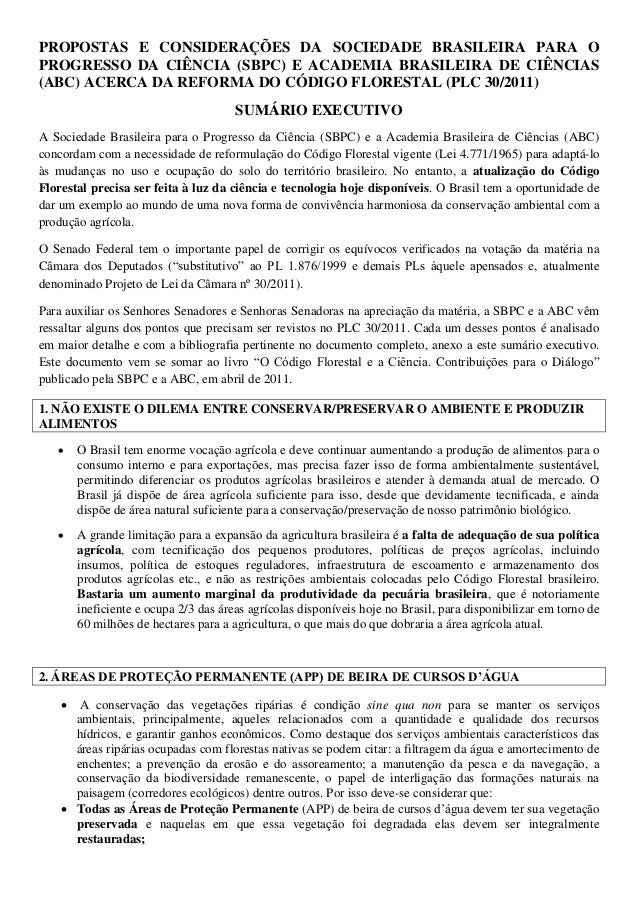 PROPOSTAS E CONSIDERAÇÕES DA SOCIEDADE BRASILEIRA PARA O PROGRESSO DA CIÊNCIA (SBPC) E ACADEMIA BRASILEIRA DE CIÊNCIAS (AB...