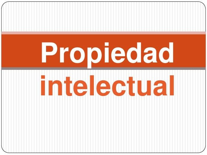 Propiedadintelectual<br />