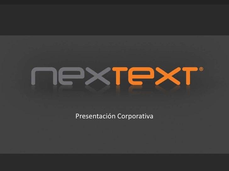 Presentación Corporativa<br />
