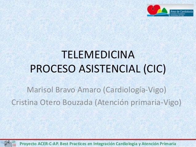 Proyecto ACER-C-AP. Best Practices en Integración Cardiología y Atención Primaria TELEMEDICINA PROCESO ASISTENCIAL (CIC) M...