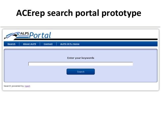 ACErep search portal prototype