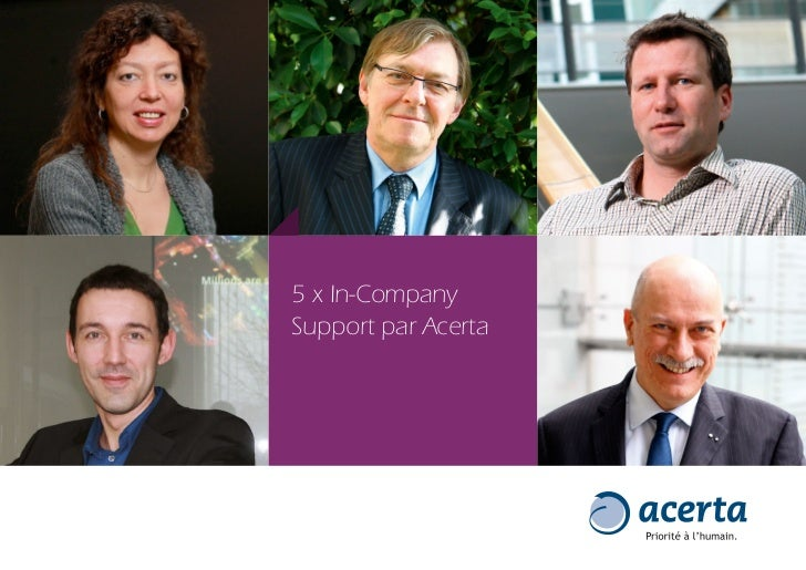 5 x In-CompanySupport par Acerta