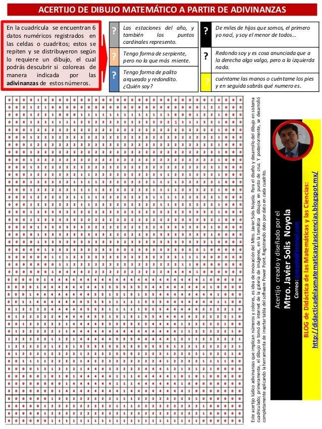 Acertijo De Dibujo Matematico A Partir De Adivinanzas De Numeros Y Co