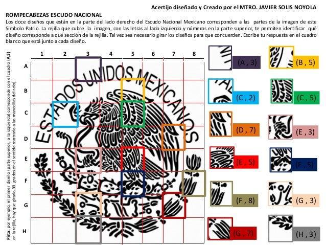 Acertijo De Perspicacia Visual Y Analisis Matematico Del Escudo Nacio