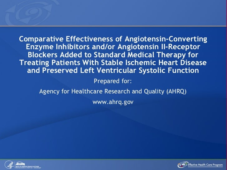 Comparative Effectiveness of Angiotensin-Converting Enzyme Inhibitors and/or Angiotensin II-Receptor Blockers Added to Sta...