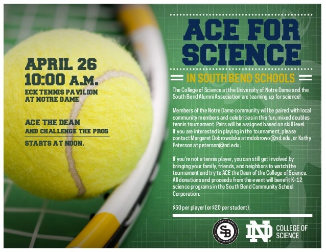 The College of Science at the University of Notre Dame and the South Bend Alumni Association are teaming up for science! M...