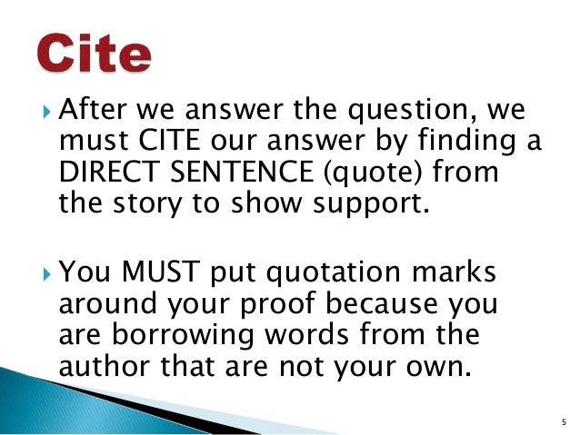 ACE Short Answer Strategy
