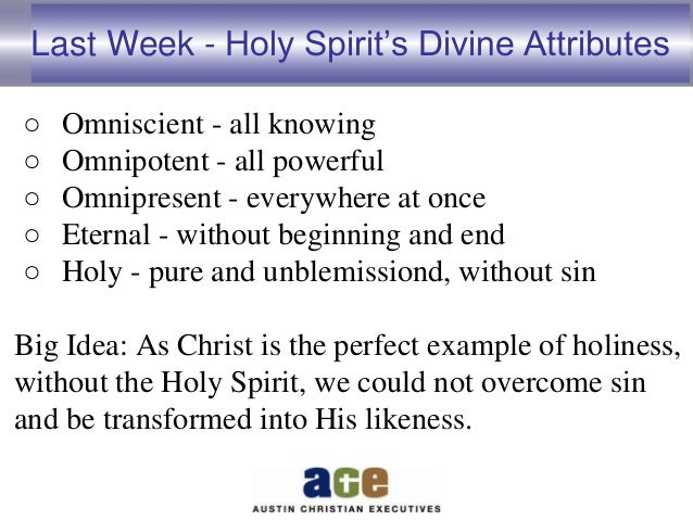 the holy spirit association essay The third personality of the godhead is referred to as the holy spirit accordingly,  there is no specific name that is assigned to the holy spirit.