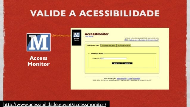 VALIDE A ACESSIBILIDADE http://www.tawdis.net/