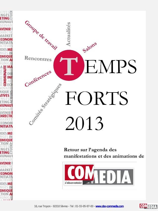 Retour sur l'agenda des manifestations et des animations de  16, rue Troyon - 92310 Sèvres - Tel : 01-55-95-97-00 - www.ob...