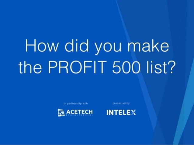AceTech companies on the profit 500