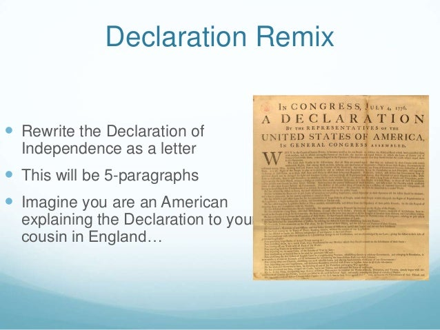 Declaration Of Independence of the United States Of ...