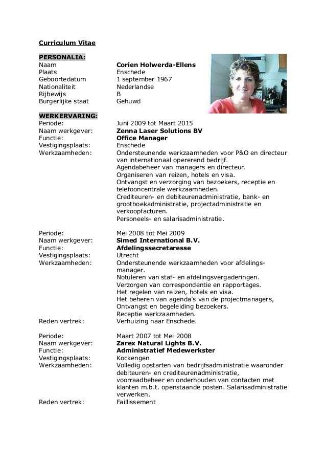 CV Corien Holwerda Ellens