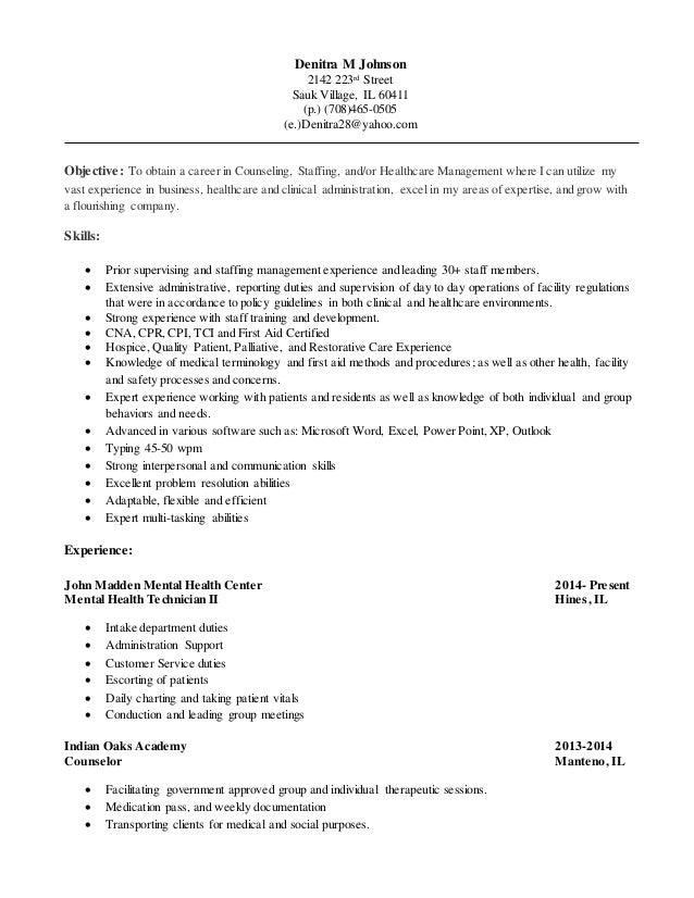 Denitra M Johnson 2142 223rd Street Sauk Village, IL 60411 (p.) (708)465-0505 (e.)Denitra28@yahoo.com Objective: To obtain...
