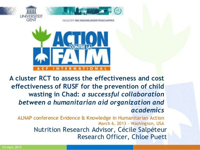 A cluster RCT to assess the effectiveness and cost    effectiveness of RUSF for the prevention of child          wasting i...