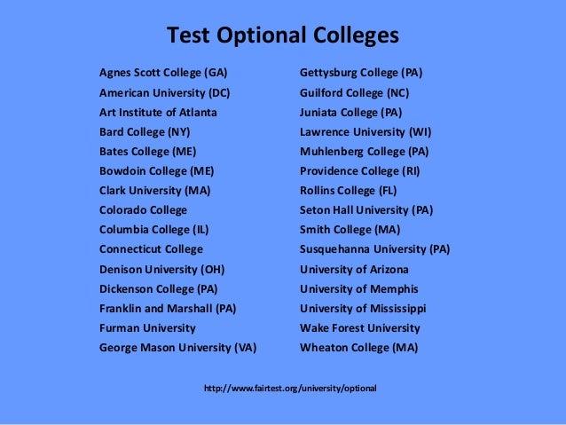 Best test optional colleges in massachusetts