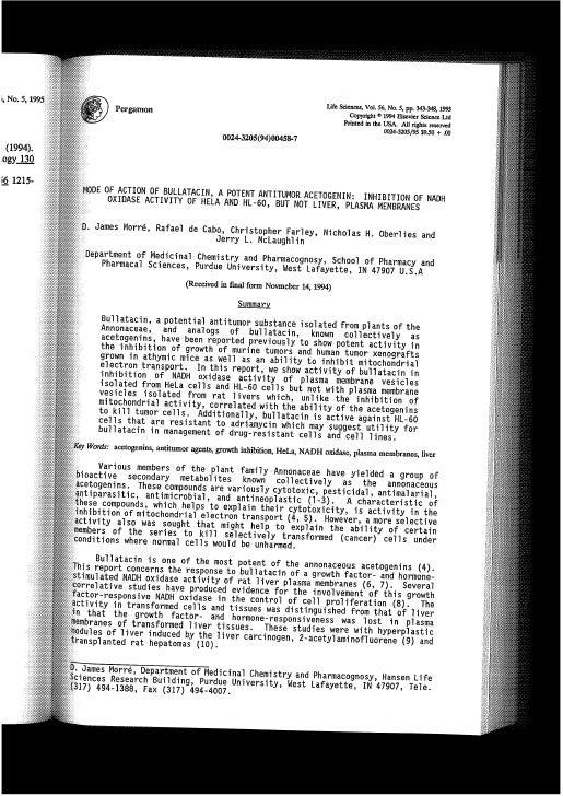ACG-151-In vitro-MOA-Bullatacin-McLaughlin-Rabao-US-1994