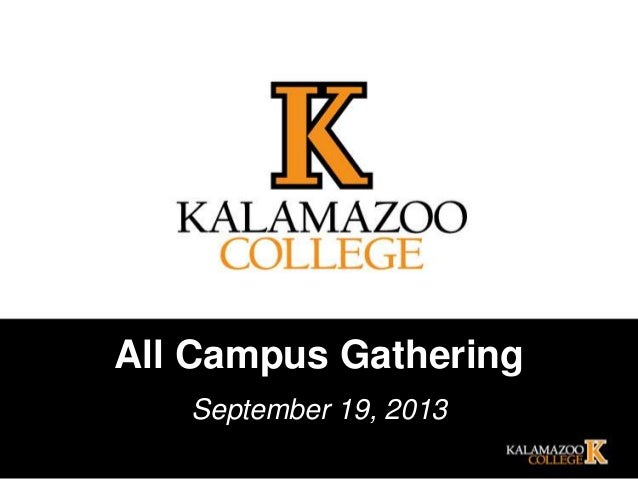 All Campus Gathering September 19, 2013
