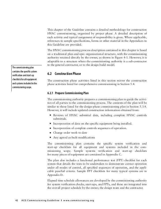 commissioning guideline