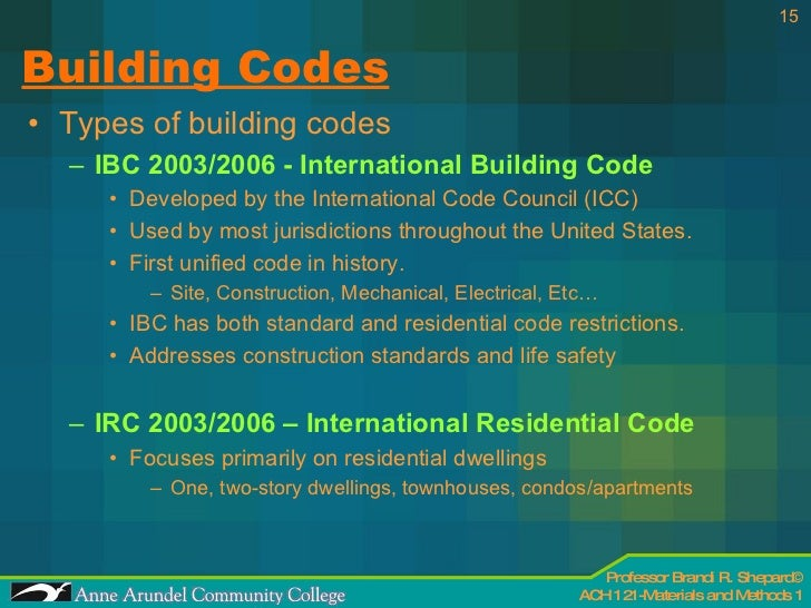 ACH 121 Lecture 03 Codes