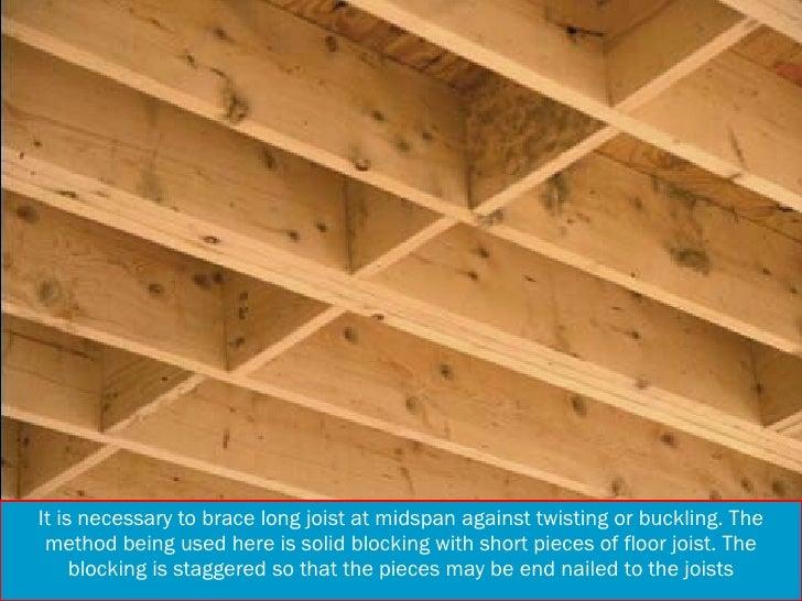 Solid bridging floor joists thefloors co for Wood floor joist bridging