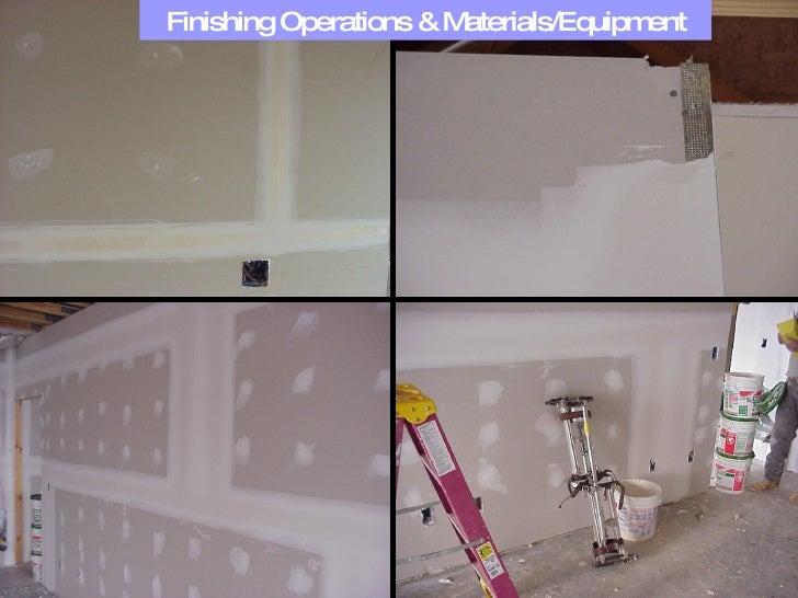 Finishing Operations & Materials/Equipment