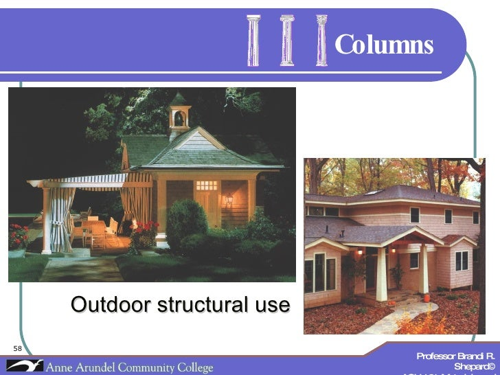 Columns Outdoor structural use