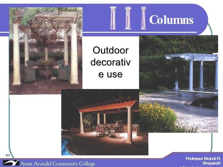 Columns Outdoor decorative use