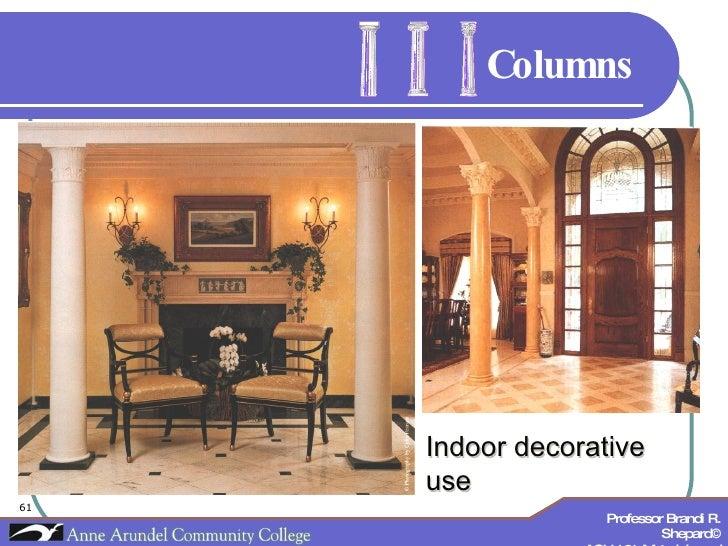 Columns Indoor decorative use