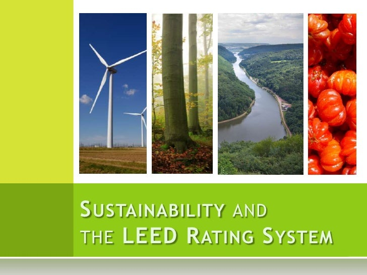 Sustainability and the LEED Rating System<br />