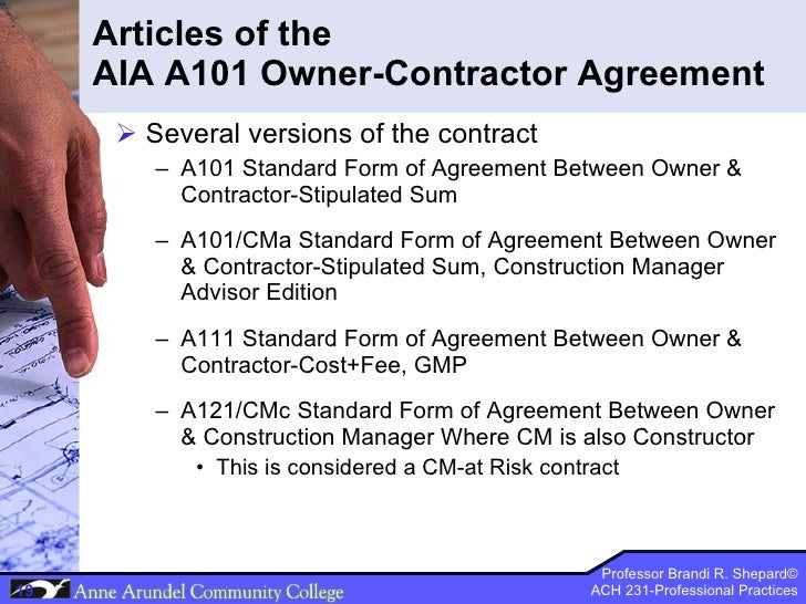 Ach 231 Lecture 07 Contract Documents Part 3