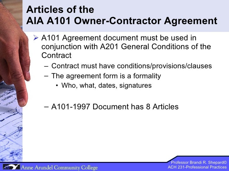 ACH 231 Lecture 07 (Contract Documents) Part 3