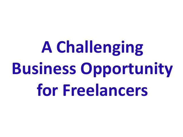 A Challenging Business Opportunity for Freelancers