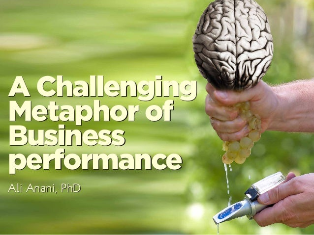 A Challenging Metaphor of Business performance A Challenging Metaphor of Business performance Ali Anani, PhDAli Anani, PhD