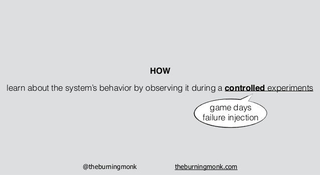 @theburningmonk theburningmonk.com learn about the system's behavior by observing it during a controlled experiments HOW g...