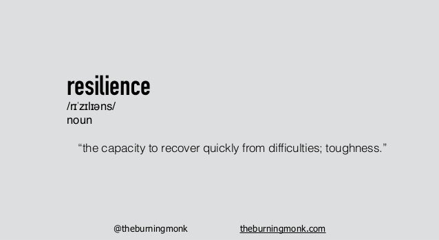"""@theburningmonk theburningmonk.com """"the capacity to recover quickly from difficulties; toughness."""" resilience /rɪˈzɪlɪəns/ ..."""