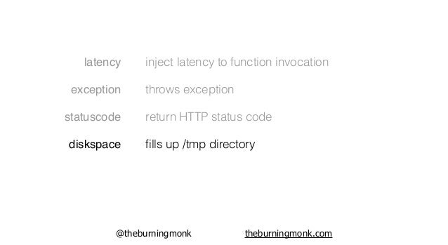 @theburningmonk theburningmonk.com latency exception statuscode diskspace denylist inject latency to function invocation t...