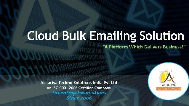 Achariya cloud-bulk-email-platform