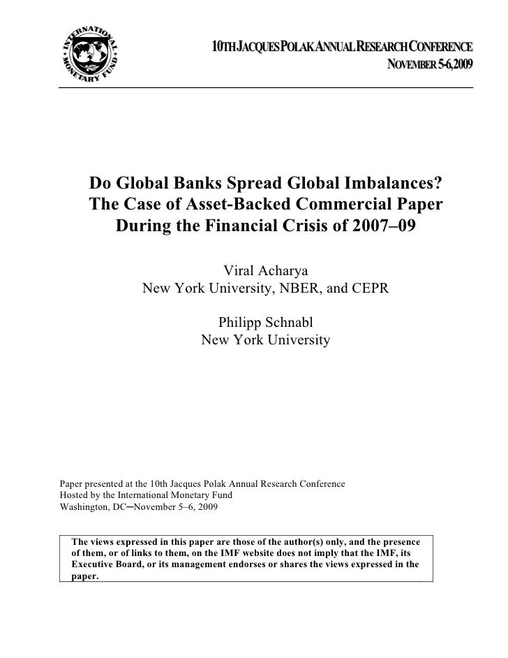 Sample Essay on the 2008 Financial Crisis