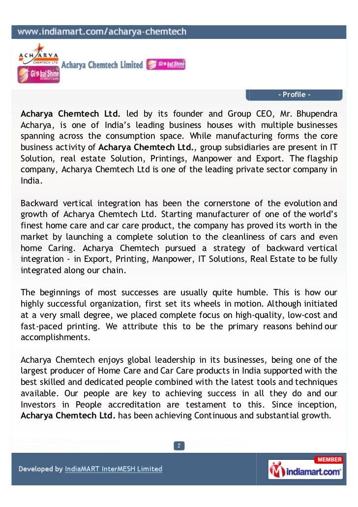 Acharya Chemtech Ltd, Mumbai, Real Estate Services